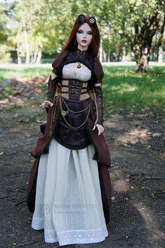 Lady Steam on a walk. Handmade outfit by me. www.darkona.ru #steampunk #LadySteam