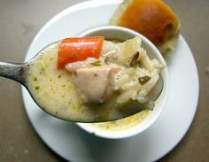 Creamy Chicken & Wild Rice Soup - tasty, but even better after it sits a day or two