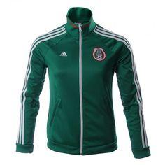 Demuestra tu pasión por El Tri con hamarra Adidas Selección Mexicana de Fútbol para mujer.