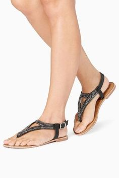 Buy Navy Beaded Sandals from the Next UK online shop