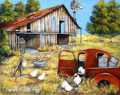 pictures of old barns in summer