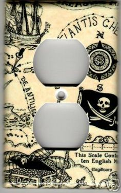 PIRATE TREASURE MAP OUTLET COVER