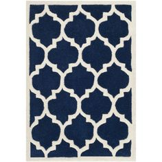 Chatham Dark Blue Ivory Moroccan Area Rug Reviews ($41) ❤ liked on Polyvore featuring home, rugs, navy area rug, cream colored rugs, beige area rugs, moroccan area rugs and off white rug