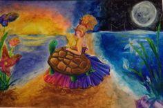 """Colliding Sides"" by Adriana Herrera from the Smith Middle School art program. #ArtColony #HouArtFest"