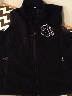 $30 Monogrammed Fleece Vest