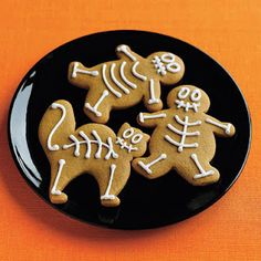 Gingerbread skeletons - great repurpose of the traditional gingerbread cookie cutter!