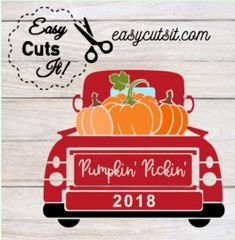 Vintage Red Truck, Vintage Fall, Fall Paper Crafts, Wood Crafts, Cricut Svg Files Free, Cricut Fonts, Truck Crafts, Christmas Truck, Christmas Stuff
