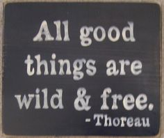 All Good Things Are Wild And Free Thoreau by shabbysignshoppe, $23.95