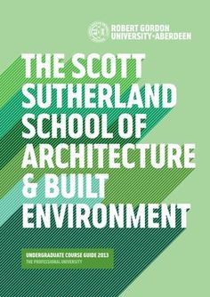 Scott Sutherland Under Grad Course Brochure 2013