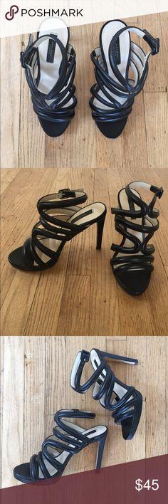 Zara black sandal heels Only worn twice. Zara Shoes Heels