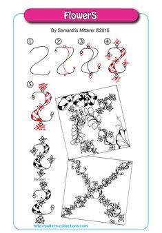 Zentangle Drawings, Doodles Zentangles, Doodle Drawings, Doodle Art, Zen Doodle Patterns, Zentangle Patterns, Doodle Borders, Tangle Doodle, Tangle Art