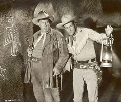 """Andy Devine and Guy Madison in """"Wild Bill Hickok"""" television series  (from 1951 - 1958)"""