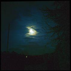 Night night. #moon #clouds #trees # night
