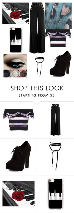 """caiden 1"" by tay-mew on Polyvore featuring MSGM, RED Valentino, New Look and Casetify"