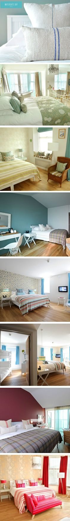 Rooms at Watergate Bay Hotel, Newquay.