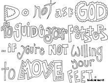Christian Doodle Word Art Coloring Page Cool Quotes And Funny