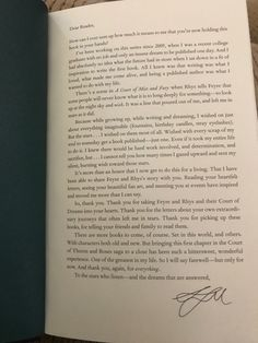 Sarah J. Maas's Letter to the reader in the Special Target Edition of A Court of Wings and Ruin