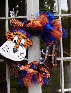 Auburn Initial Wreath