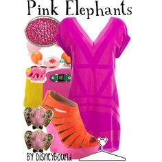 """Pink Elephants"" by lalakay on Polyvore #disney"