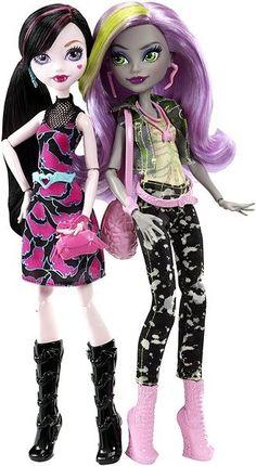 Herní set Mattel Monster High - Monstórzní rivalové Draculaura a Moanica D´Kay