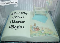 Nursery Rhyme Book Baby Shower Cake