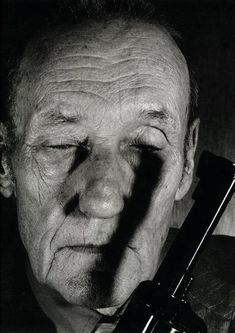 """William S. Burroughs, 1990  GOTTFRIED HELNWEIN: """"Faces"""" (1992)"""