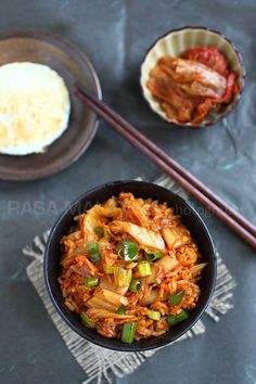 Kimchi Fried Rice, takes only 15 minutes. #korean #rice