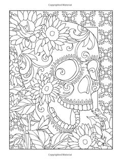 creative haven day of the dead coloring book - Day Of The Dead Coloring Book