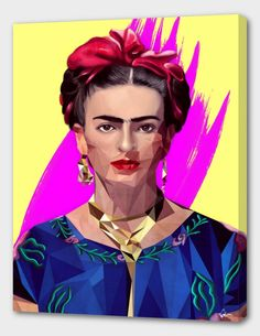"""""""MODERN FRIDA"""", Exclusive Edition Canvas Print by Mayka ienova - From $69.00 - Curioos"""
