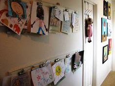 a little of this, a little of that: Kids Art Display