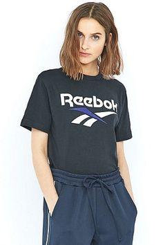Reebok - T-shirt noir avec logo