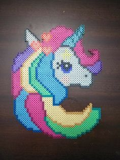 Unicorn perler Perler Beads, Fuse Beads, Pearler Bead Patterns, Perler Patterns, Pixel Beads, Perler Bead Templates, Unicorn Pattern, Iron Beads, Melting Beads