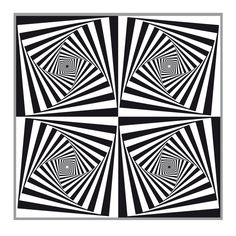 Op Art Printable | patterns illusion illusions op art op art diamonds quadruple squares ...