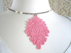 $22.00 So Feminine Lace necklace from Victorian Swag on etsy