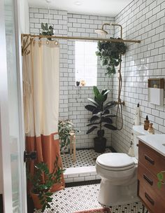A Five-Year DIY Project Turned This Fixer Upper Into A Dream Home - House & Home Home Interior, Interior And Exterior, Interior Colors, Interior Paint, Interior Design, Boho Bathroom, Bathroom Goals, Small Bathroom, Bathroom Ideas