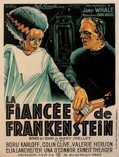 Vintage Wife of Frankenstein French Release Movie Poster// Classic Movie Poster//Movie Poster//Poster Reprint//Home Decor//Horror Horror Movie Posters, Classic Movie Posters, Classic Horror Movies, Horror Films, Horror Art, Mary Shelley, Vintage Movies, Vintage Posters, Supernatural Films