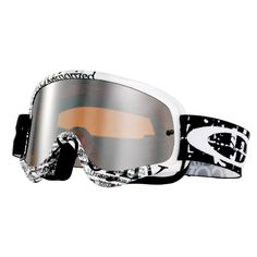 Oakley O Frame Goggles - Tagline Black White Motocross Goggles, Dirtbikes, Bicycle Helmet, Oakley Sunglasses, Black And White, Stuff To Buy, Giveaway, Motorcycles, Frames