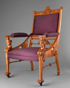 George A. Schastey & Co. | Armchair from the drawing room of the Samuel Nickerson House, Chicago, Illinois, ca 1880 | The Met