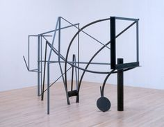 - A sculpture made from steel tubing and beams. Its shape has elements similar to early russian constructivist sculptures. Modern Sculpture, Abstract Sculpture, Sculpture Art, Abstract Art, Anthony Caro, Tate Gallery, Sculpture Projects, Social Art, Call Art