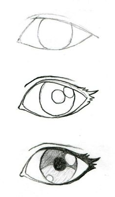 Some good eyelash info! JohnnyBro's How To Draw Manga: Drawing Manga Ey. Some good eyelash info! JohnnyBro's How To Draw Manga: Drawing Manga Eyes (Part I) - Drawing Techniques, Drawing Tips, Drawing Reference, Drawing Sketches, Easy Eye Drawing, Sketching, Drawing Drawing, Eye Sketch, Easy Sketches For Beginners