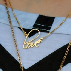 24K Gold Plated Script Name Necklace Get your own at Onecklace.com and use the code PINTEREST for 6% OFF!