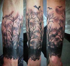 Men Bird Tattoo On Forearm