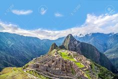 View of Machu Picchu, Peru with Wayna Picchu rising in the background Stock Photo - 32472819