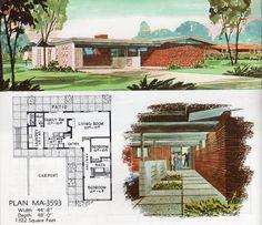Plan MA-3593 | 2 Bed, 1 Bath, 2-Carport