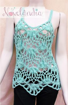 Blouse ocean- hairpin lace