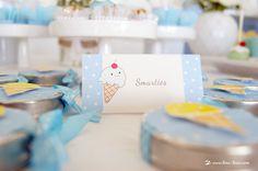 Details for this ice-cream themed baby shower rora com bolinhas e uma patinha