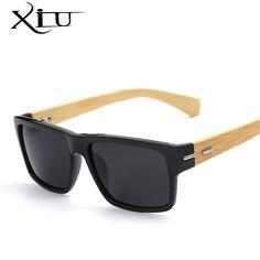 XIU Polarized Sunglasses Men Vintage Bamboo Glasses Fashion Sunglass Women  Brand Designer Oculos De Sol Masculino