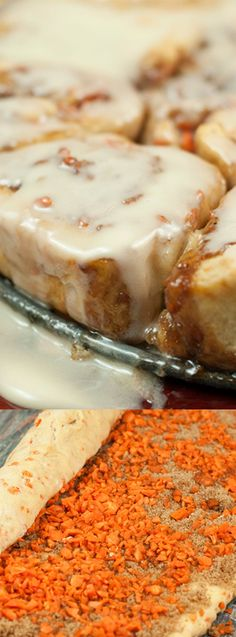 These Carrot Cake Cinnamon Rolls with Mascarpone Icing from Wishes and Dishes are made from scratch and taste amazing! They are perfect for a special brunch or just when you're craving the delicious spices and flavors of carrot cake!