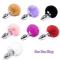 2.28$ (Buy here: http://alipromo.com/redirect/product/olggsvsyvirrjo72hvdqvl2ak2td7iz7/32733058036/en ) 100% New Men & Women Butt Plug Small Size Metal Anal Toys Hairy Rabbit tail Adult Sex Toys, Sex Products Anal Plug Juguetes for just 2.28$