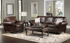 Living Room: Epic Living Room Decoration Using Upholstered Dark ... I LOVE the gray walls, brown couch, and teal ...